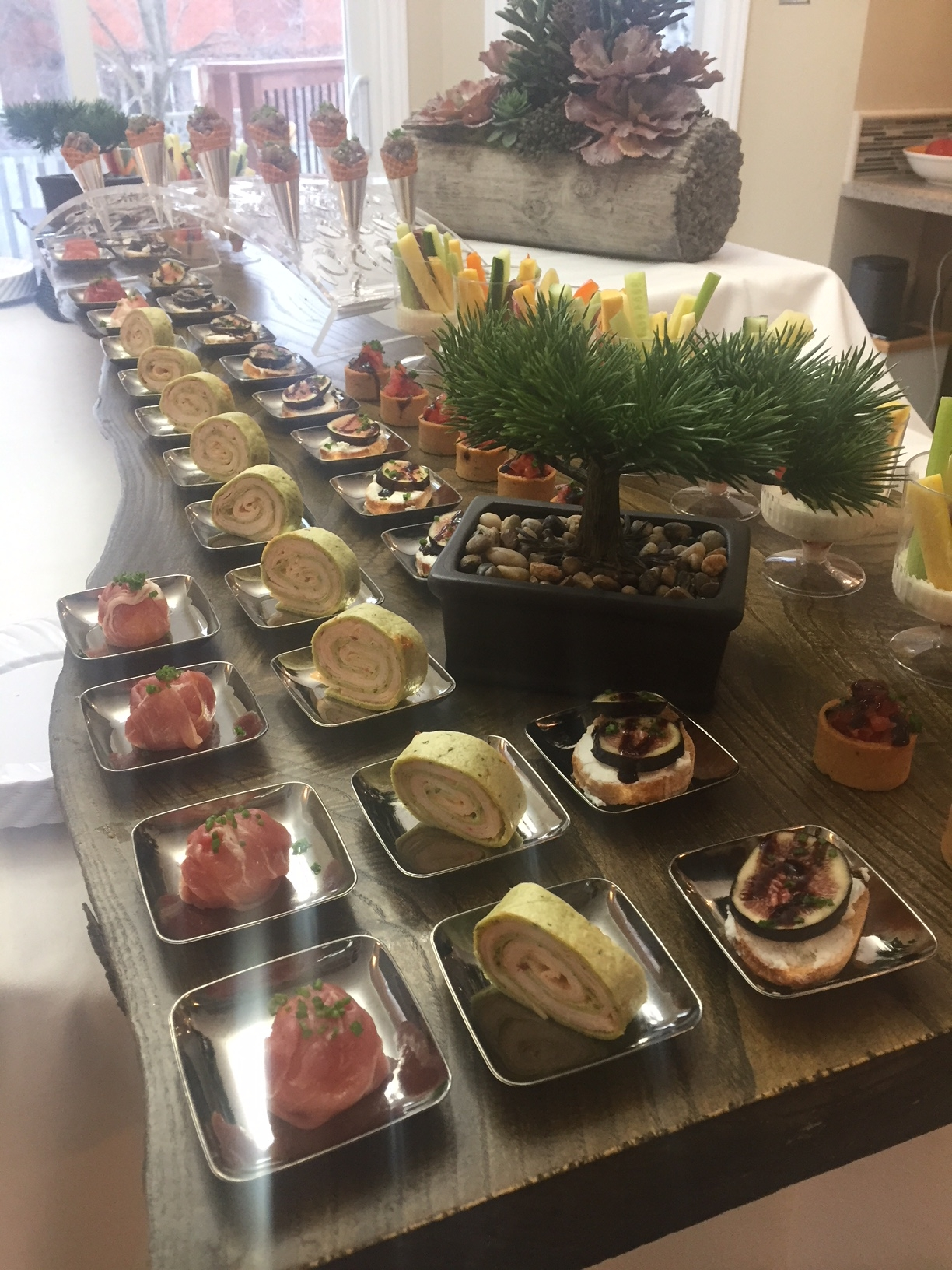 Appetizers & canapes Display