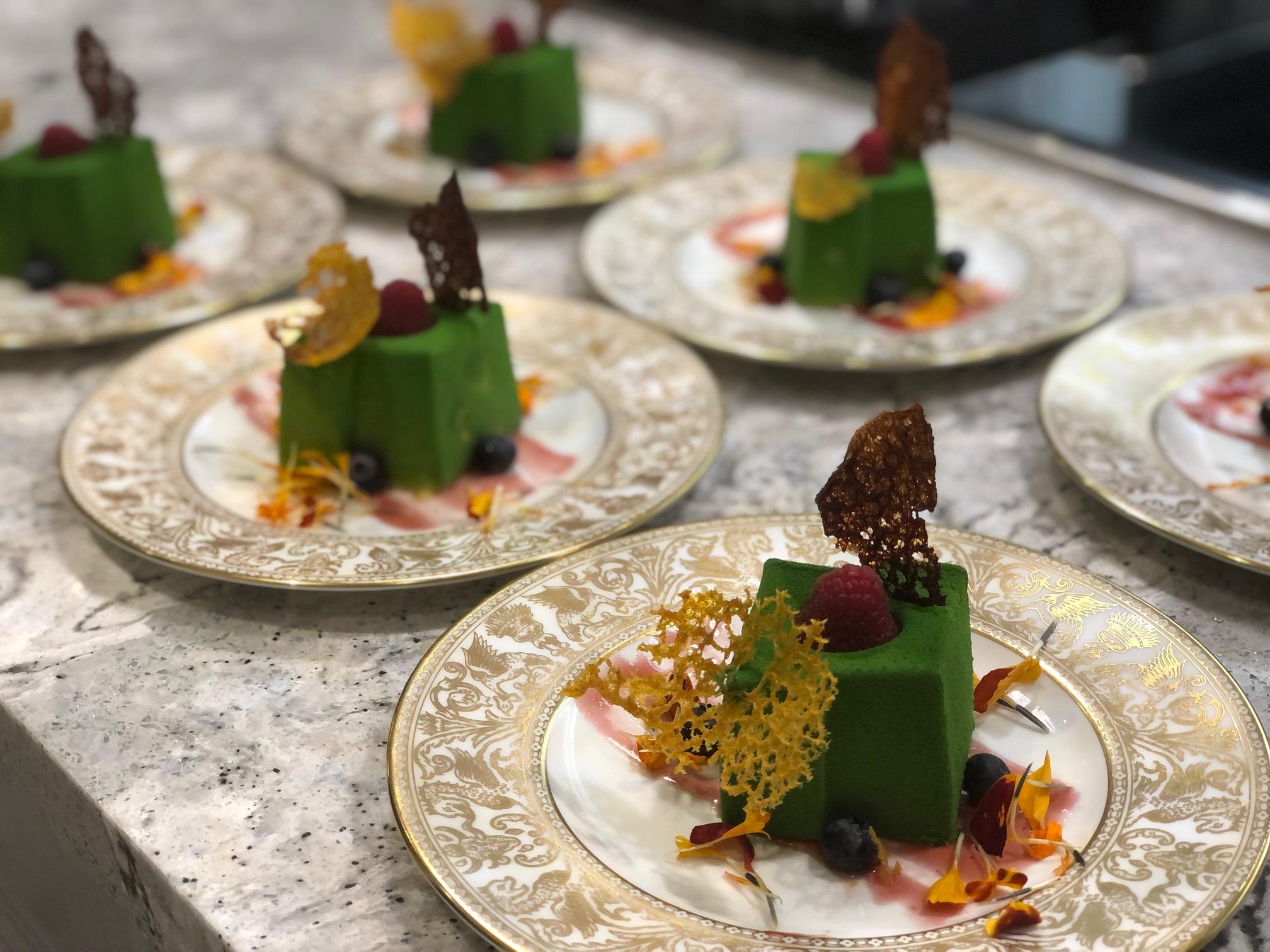 pistacchio-mousse-cakes-personal-chef-services
